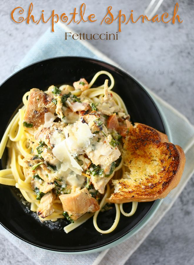 Chipotle Spinach Fettuccini