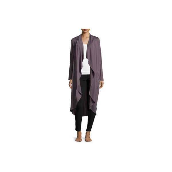 Ugg Marion Terry-Knit Long Drape Cardigan ($89) ❤ liked on Polyvore featuring tops, cardigans, nightfall, open front draped cardigan, long cardigan, open front knit cardigan, long sleeve tops and long sleeve knit cardigan