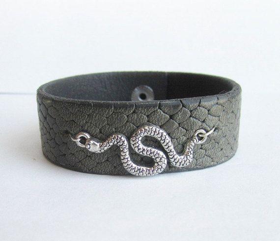 Men's leather bracelet men's leather cuff men by Bravemenjewelry