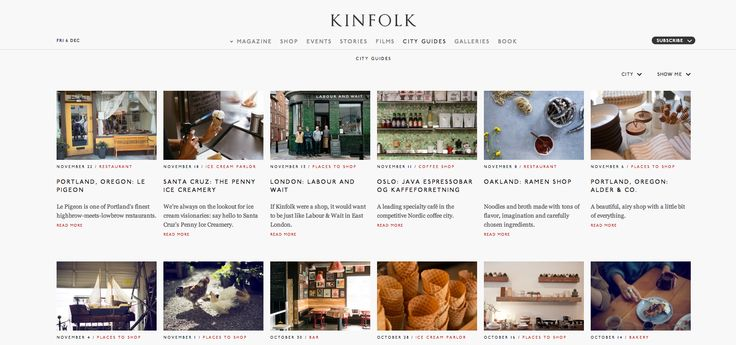 MUCHOS LOCALES BUENOS http://www.kinfolk.com/city_guides/