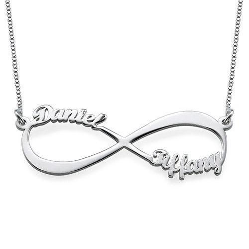 Collar Infinito Nombre Parejas   MyNameNecklace