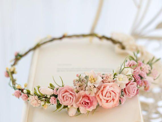 Women Girl Flower Fairy Bohemian Wedding Beach Tiara Crown hair headband Garland