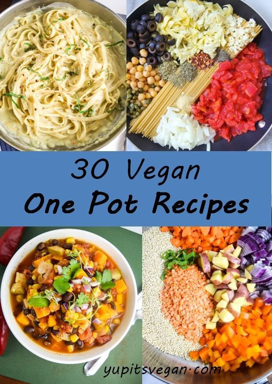 30 Vegan One Pot Recipes | A roundup of 30 vegan recipes that cook in only one…