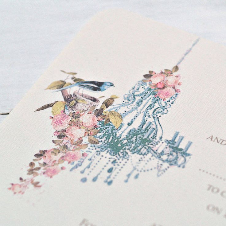 'vintage chandelier' wedding invitations by beautiful day | notonthehighstreet.com