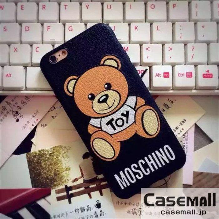 芸能人愛用 モスキーノ iphoneケース iPhone7 iPhone7plusケース ソフト MOSCHINO アイフォン6sケース クマ 可愛い iPhone6s plusカバー ペアケース