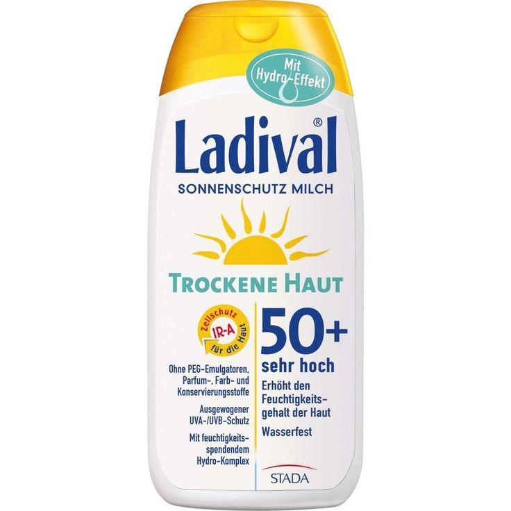 LADIVAL trockene Haut Milch LSF 50+:   Packungsinhalt: 200 ml Milch PZN: 11168501 Hersteller: STADA GmbH Preis: 15,02 EUR inkl. 19 %…