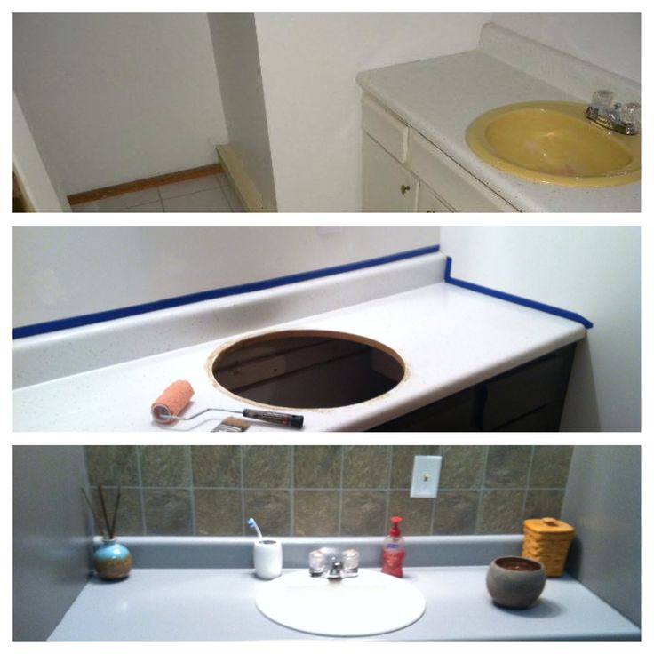 bathroom sink paint finally remodeled the bathroom some rustoleum countertop 11376
