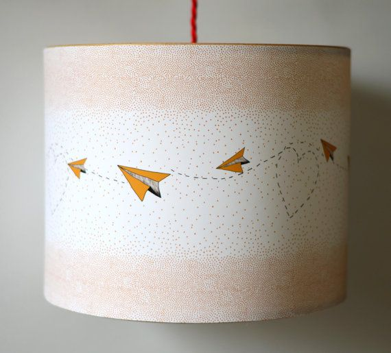Handmade Lampshade  Hearts Dots & Paper by ANorthernLightLamps, £67.00