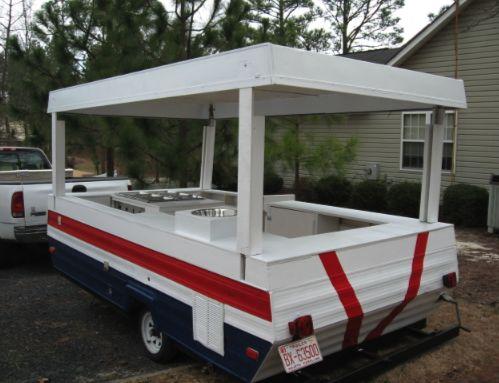 Sweet Pop Up Trailer Hot Dog Cart Conversion!    Awesome, awesome, love it, love it, love it!!!