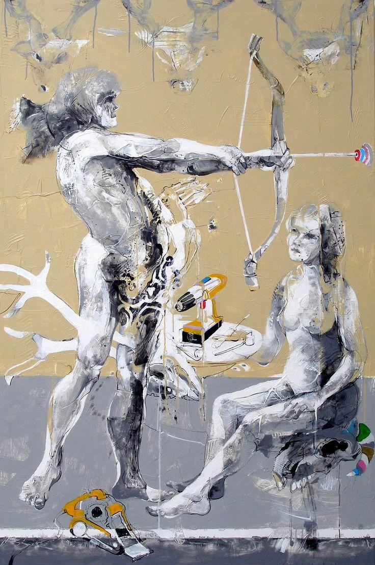 Janusz Tyrpak # Time to Albrecht Dure-Apollo & Diana  # 150x100cm # Janusz Tyrpak on ArtStack # janusz-tyrpak # art