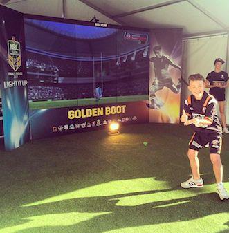 NRL Finals The Creative Shop fan golden boot activation