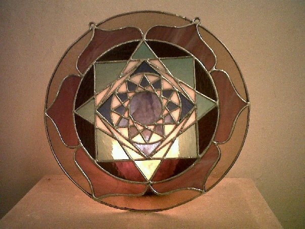 Venus Yantra Stained Glass