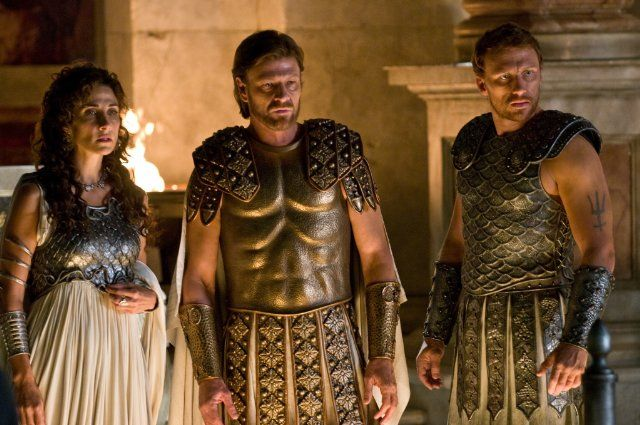 Athena, Zeus, and Poseidon in Percy Jackson (another cinema where Sean Bean lives)
