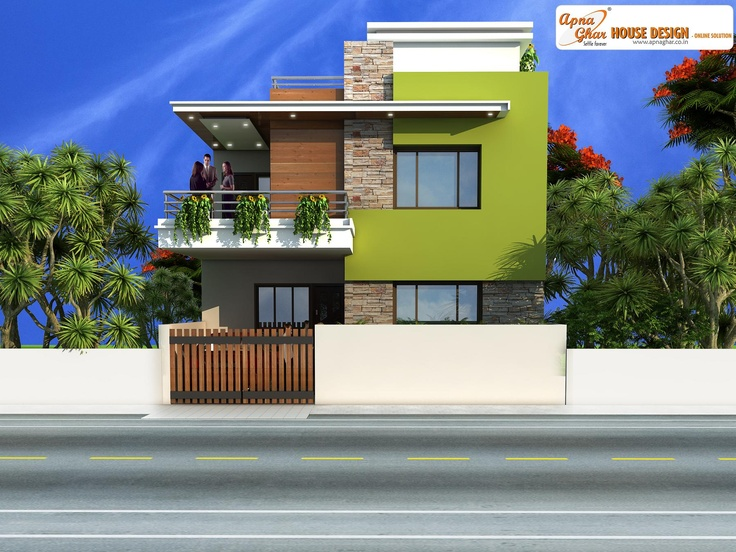 Simple duplex house design click on this link http www for Duplex house front elevation pictures