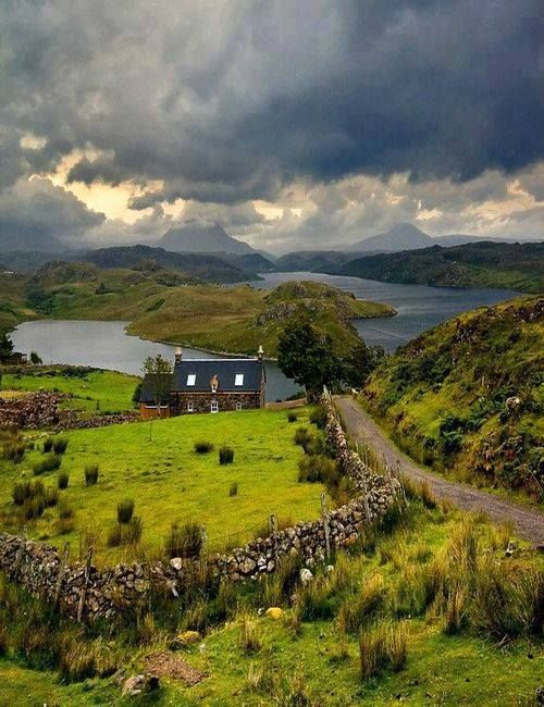 The highlands of Scotland.