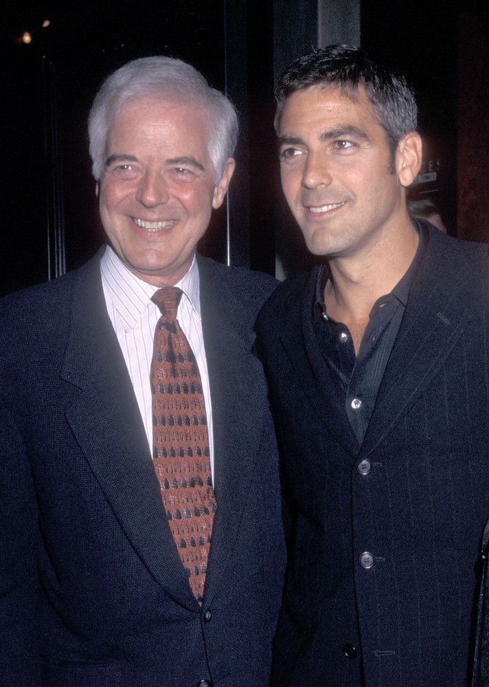 Nick & George Clooney (Then)Father: journalist, anchorman and television host