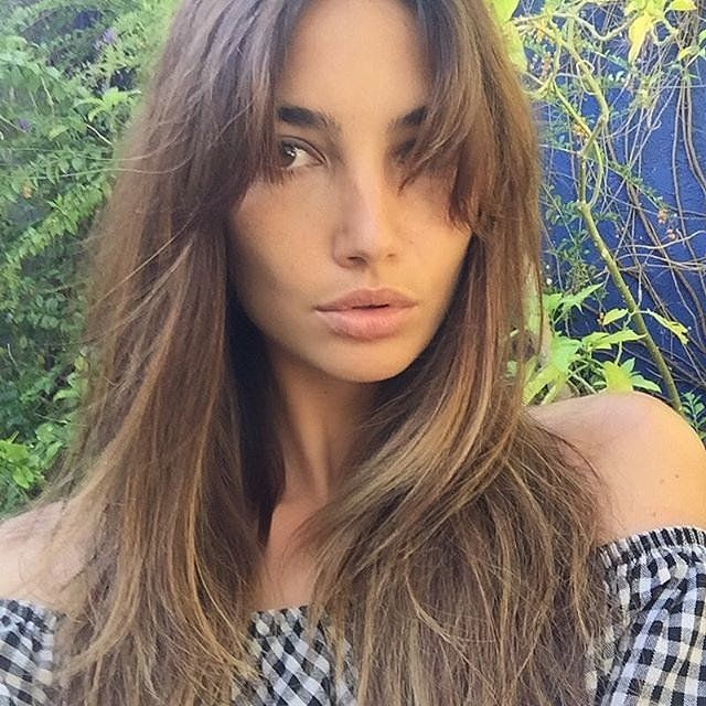 Lily Aldridge: The Victoria's Secret model took to social media to reveal her new bangs, which were parted in the middle. Genius idea.