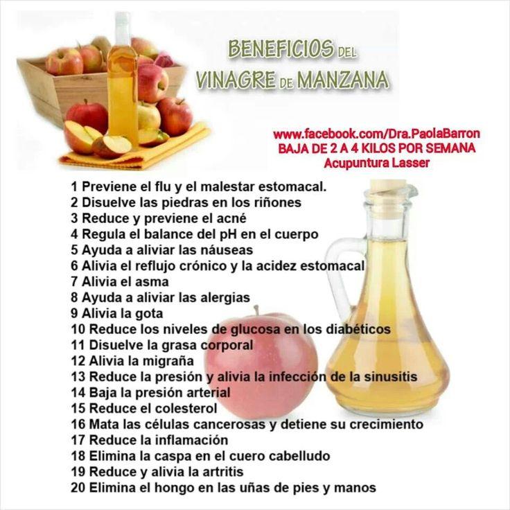 El vinagre de frutas sirve para bajar de peso