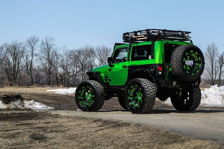 lime green custom jeep wrangler
