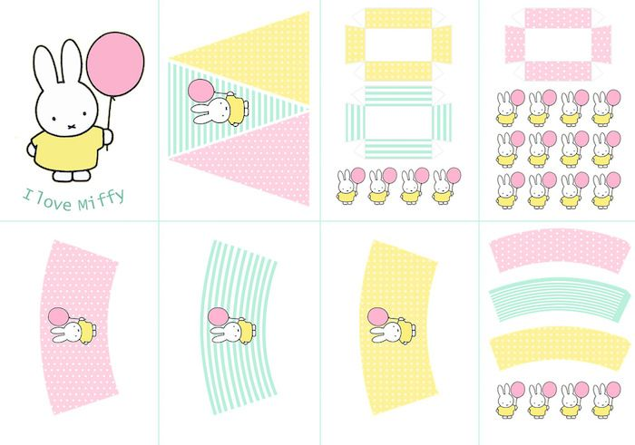 Miffy Bunny Birthday Party with FREE PRINTABLES