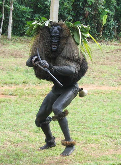 Africa | Ekpo Masquerader. Nturi, Akwa Ibom State, Nigeria. 2005 | ©Eli Bentor