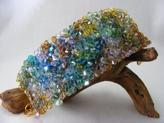 Flowing Tree  Designer Swarovski Crystal Bracelet with by: Love2get, $147.00