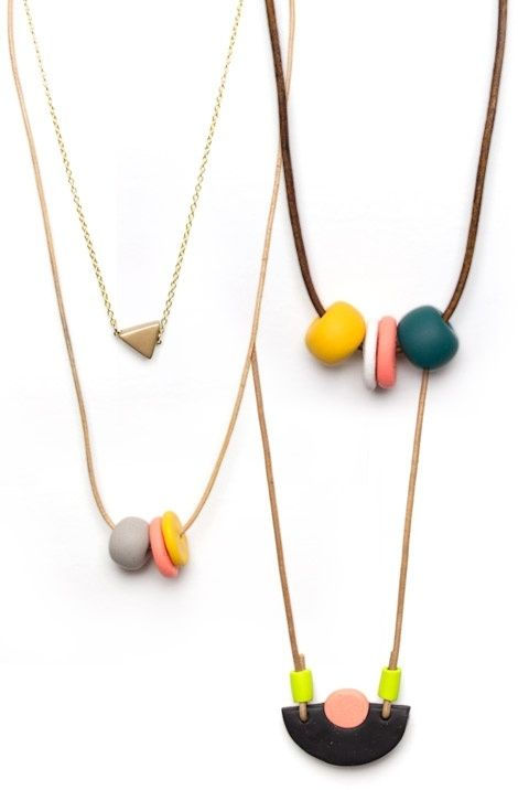 love these necklaces by kate miss by hattie