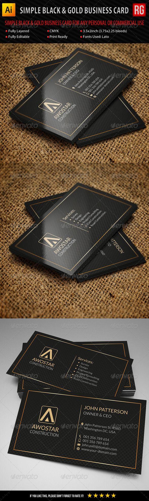 12 best concrete logo images on pinterest black and white simple black gold business card magicingreecefo Images