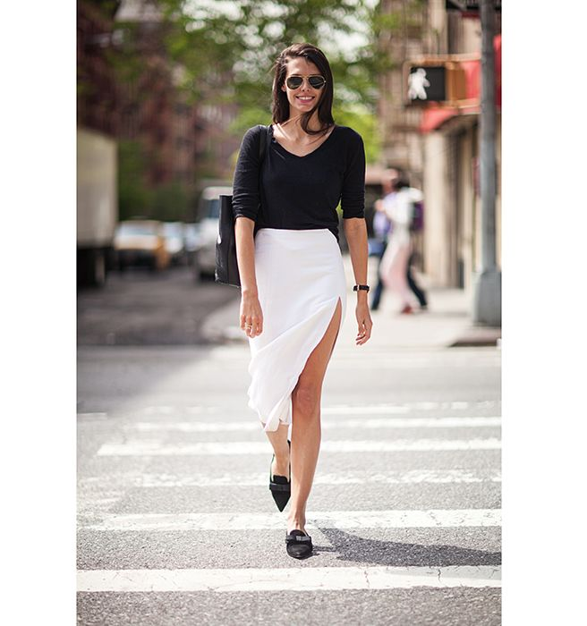 Editor's Style Black and White - Spring Street Style Photos New York City Natalie Matthews - Elle