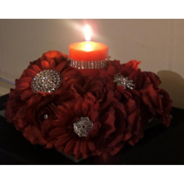 Rose and Gerbera Brooch Centrepiece on Handmade Australia