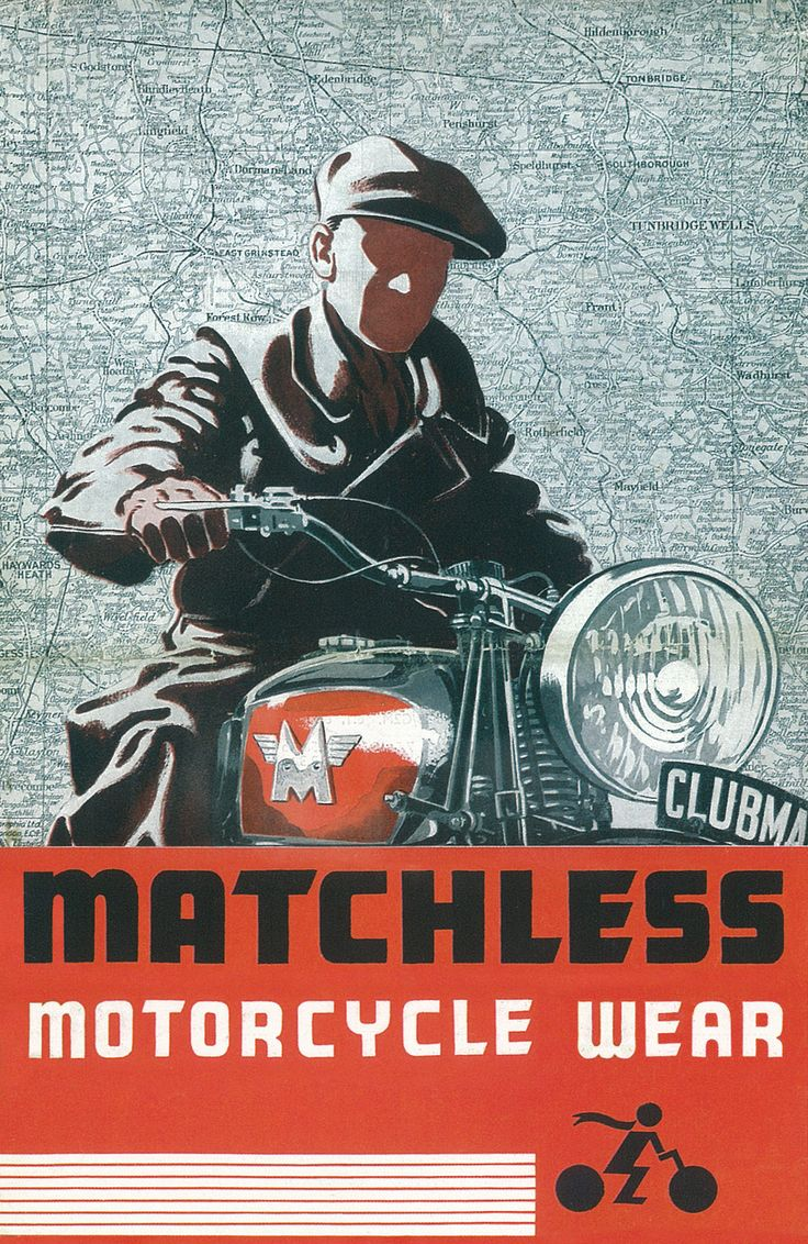 Matchless motorcycle wear vintage advertisement 1938