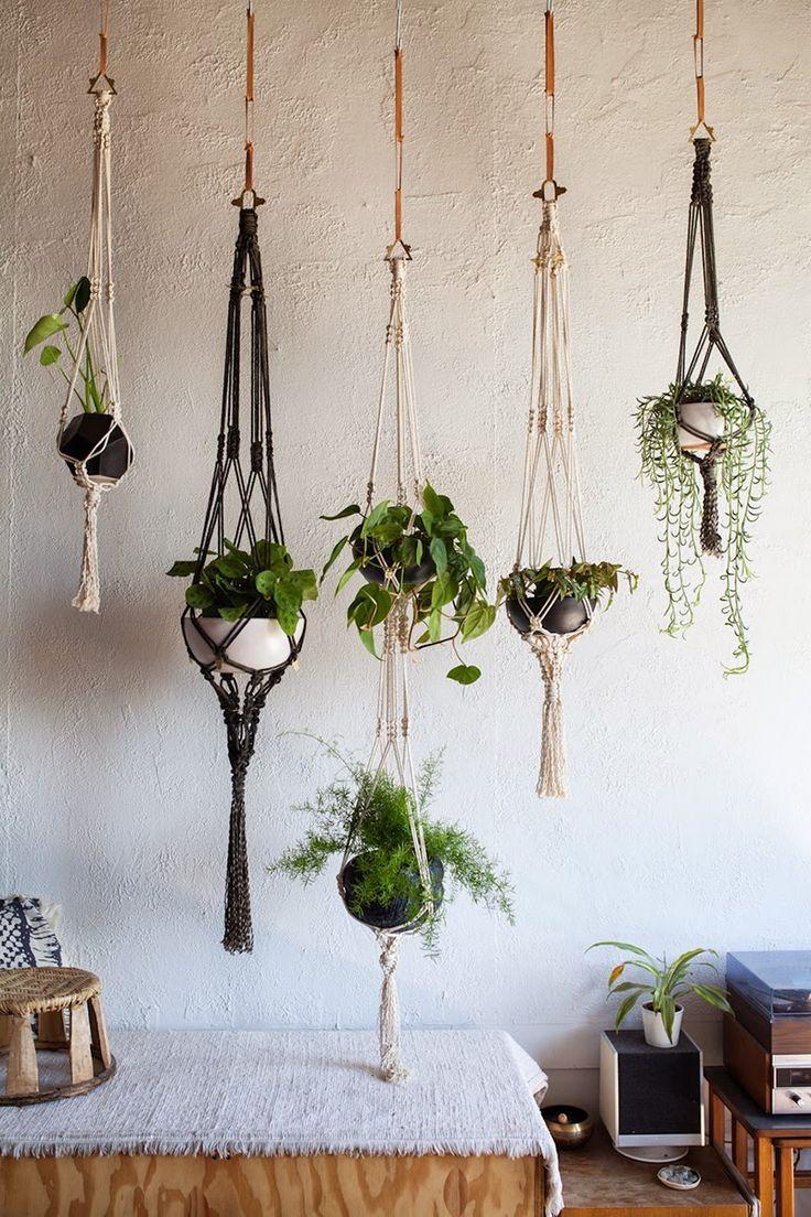 tea cup tea: EMILY KATZ // MODERN MACRAME // MARTHA STEWART - photo.  Hanging PlantsIndoor PlantsPlant HangersMacrame ...