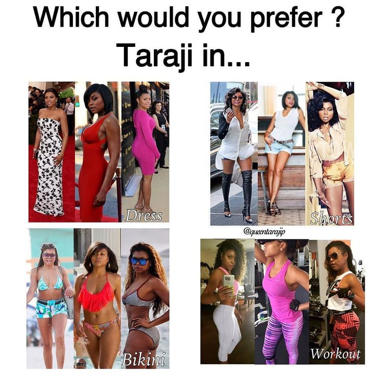 queentarajip    Which would you prefer Taraji in ? A Dress shorts bikini or in a workout fit.  @tarajiphenson #tarajiphenson  Taraji P. Henson
