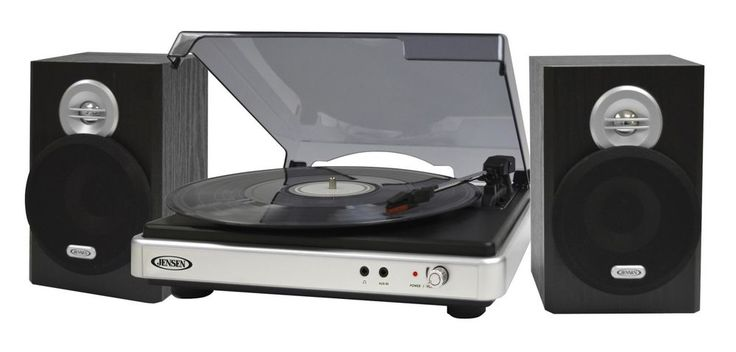Turntable For Vinyl Record Player 3 Speed with Stereo Speakers JTA325 #Jensen