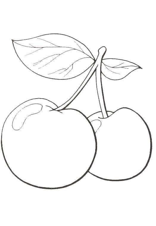 25 best ideas about fruit coloring pages on pinterest coloring pages for toddlers printables - Dessin cerise ...