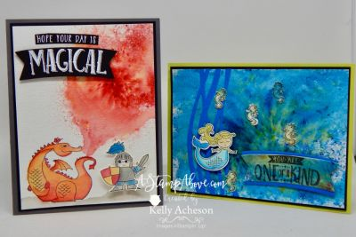 Brusho Crystal Colour is my favorite new Stampin' Up! product!!! I have a video tutorial on my blog. Just click on the photo to go there! There's links to all the products I used for these cards too - in case you'd like to place an order! Thanks for looking! www.AStampAbove.com