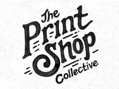 The Print Shop | logo design | hand lettering | design