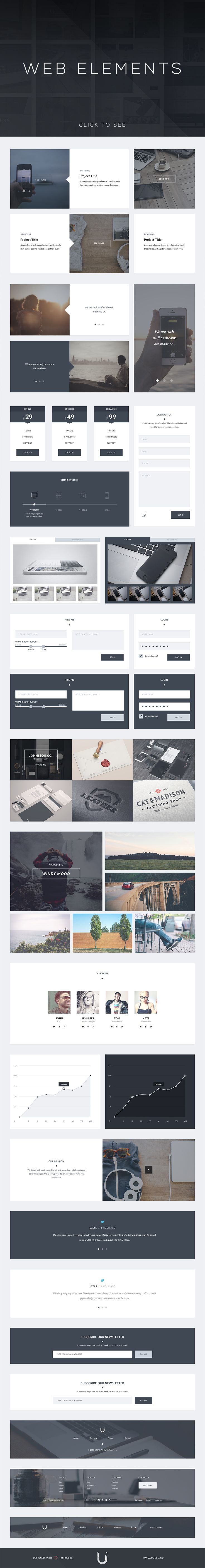 Uzers UI Kit - Web Elements - 3