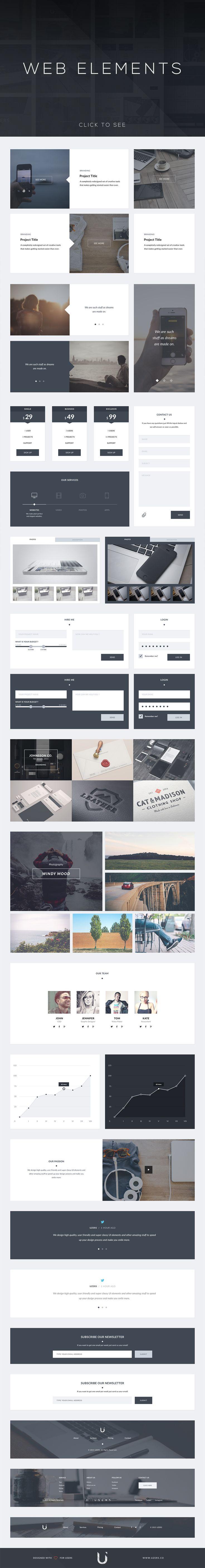 Uzers UI Kit - Web Elements - 3