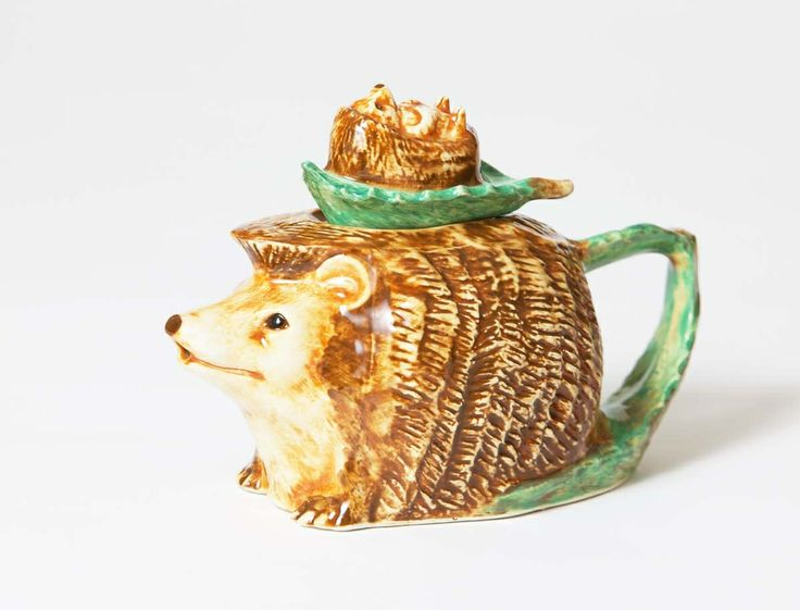 Our precious little one cup Hedgehog Teapot. Such a cutie.