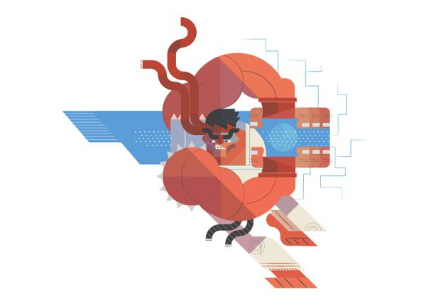 """Hadouken!"" 'Street Fighter'-Inspired Vector Series by Phuwadon Thongnoum"