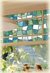 Add privacy and color to your space with Atlantis Privacy Stained Glass Window Film! Non-adhesive, static cling film. >> WindowFilmWorld.com