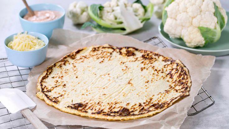 Oppskrift på Pizzabunn med blomkål - grunnoppskrift