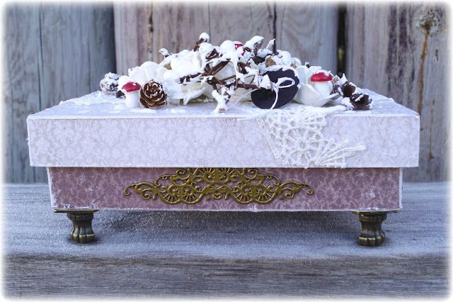 Mitt Lille Papirverksted: Step by Step - Vintage Winter Box and a GIVEAWAY