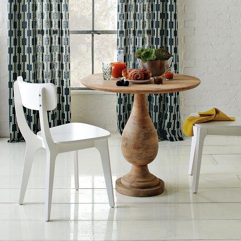 Klismos Dining Chair | west elm $99Dining Rooms, White Chairs, Turn Pedestal, Bistro Tables, Klismos Dining, Dining Chairs, Dining Tables, West Elm, Chairs Westelm