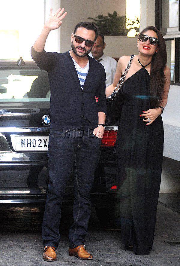 Saif Ali Khan and Kareena Kapoor at Shashi Kapoor's Christmas lunch. #Bollywood #Fashion #Style #Handsome #Beauty