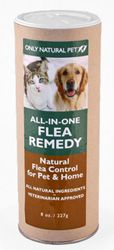 Only Natural Pet All-in-One Flea Remedy Powder for Dogs Cats