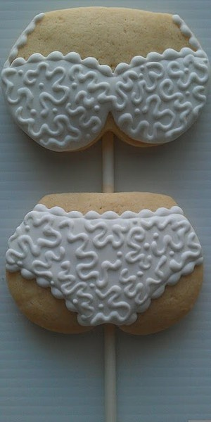 New term to having a stick up your butt....lol jk....pretty cookies.
