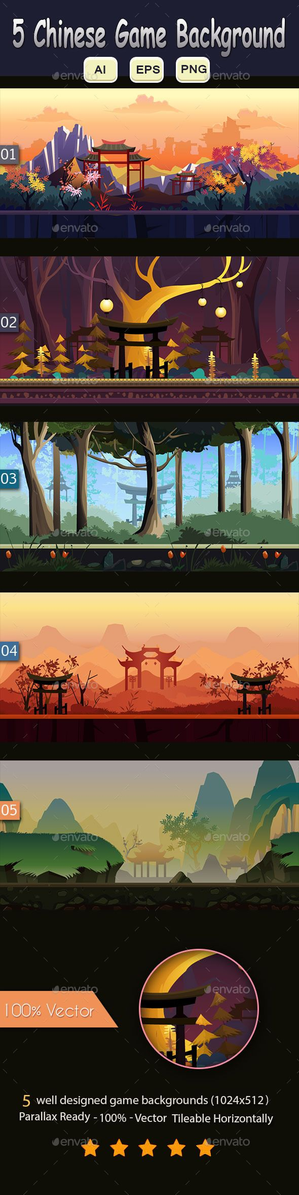 5 Chinese Game Background Download here: https://graphicriver.net/item/5-chinese-game-background/12109295?ref=KlitVogli