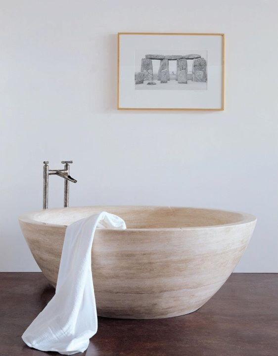 Stone Forest Travertino Bathtub